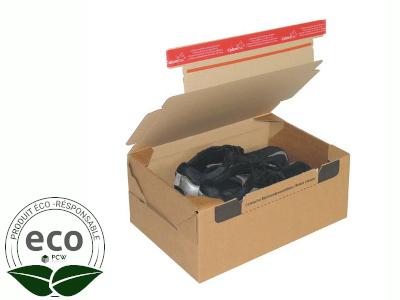 Boîte Postale Avec Adhésif ColomPac Return ® 384 × 290 × 190 Mm PC20 Kraft