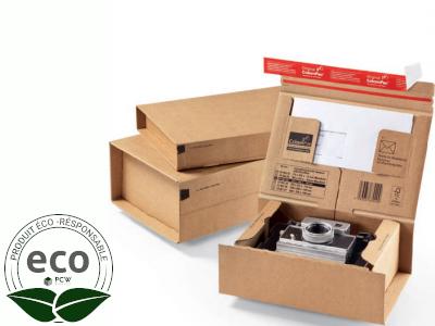 Boîte Postale Avec Adhésif ColomPac 215 × 155 × 43 Mm Micro Cannelure Kraft