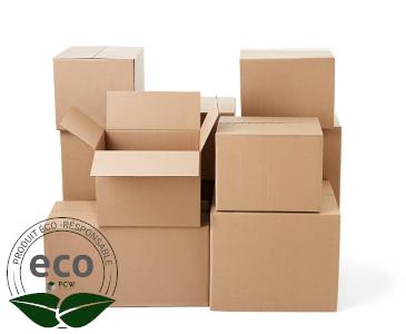 Carton Caisse Simple Cannelure 350 x 220 x 200 Mm LNE 1.1 - SC352220