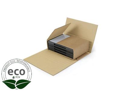Étui Postal Kraft Sans Adhésif 430 x 310 x H de 10 à 60 Mm PC 10