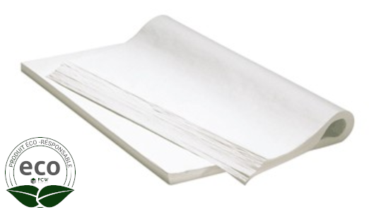 Papier Mousseline Aneto Blanc Recyclé Feuille 65 x 100 Cm 18G/M2