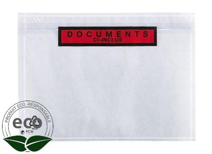"""Pochette Porte-Documents Ecodoc """"Ci-Inclus"""" 110 x 160 Mm"""
