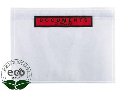 """Pochette Porte-Documents Ecodoc """"Ci-Inclus"""" 110 x 220 Mm"""