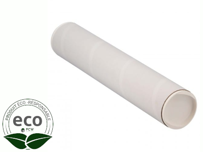 Tube Blanc Bouchons Plastique 620 x Ø 50 Mm