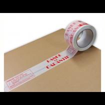 Adhésif Polypropylène Blanc Impression Bande de Garantie 48 Mm x 100 M 25 My