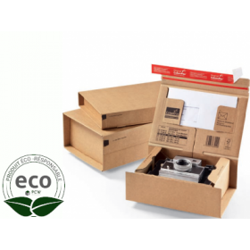 Boîte Postale Avec Adhésif ColomPac 330 × 290 × 120 Mm Micro Cannelure Kraft