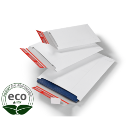 Pochette Carton Compact avec Fermeture Adhésive Blanche Colompac 235 x 310 Mm