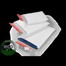 Pochette Carton Compact avec Fermeture Adhésive Blanche 310 x 445 Mm