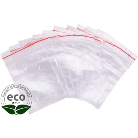 Sachet Eco Clip Neutre à Glissière 18 x 25 Cm