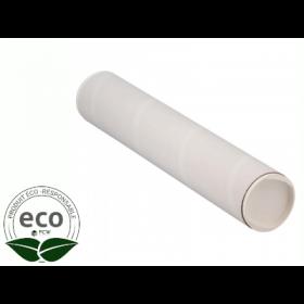 Tube Blanc Bouchons Plastique 760 x Ø 70 Mm