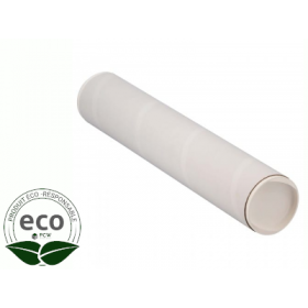 Tube Blanc Bouchons Plastique 420 x Ø 100 Mm