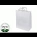 Sacs Papier Kraft Blanc Poignées Plates 220 x 280 + 100 Mm Grs M2