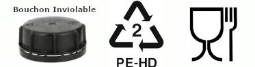 Bidon plastique PEHD Alimentaire