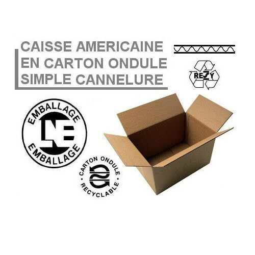 Caisse Américaine Simple Cannelure