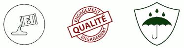 Engagement Qualité, Résiste à l'Eau et à L'Huile