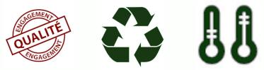 Engagement Qualité, Résiste aux Variations de Température et Recyclable