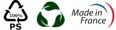 Fabriqué en France Recyclé, Recyclable et Biodégradable