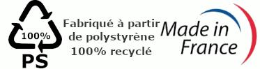 Fabriqué en France Polystyrène 100% recyclé