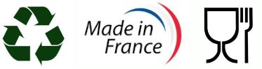 Fabriqué en France Recyclable et Agrée Agro Alimentaire