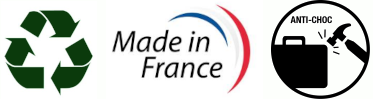 Fabriqué en France Recyclable et Antichoc