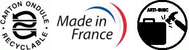 Fabriqué en France Carton Ondulé Antichoc