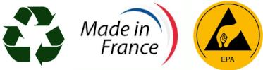 Fabriqué en France Recyclable et Antistatique