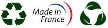 Fabriqué en France Recyclable et Biodégradable