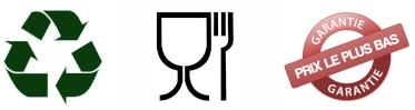 Recyclable, Agrée Contact Alimentaire, Garantie Prix le Plus Bas