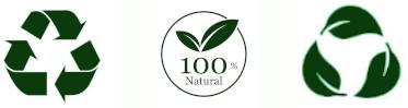 Recyclable, Biodégradable et 100% Naturel