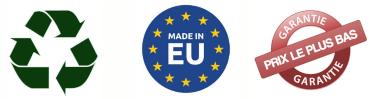 Recyclable, Fabriqué en Europe, Garantie prix le plus bas