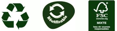 Recyclable, Réutilisable Norme FSC