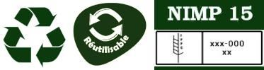 Recyclable, Réutilisable Norme NIMP15