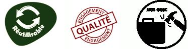 Réutilisable Engagement Qualité et Anti-Choc